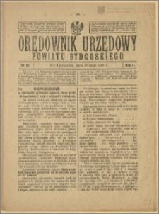 Orędownik Urzędowy Powiatu Bydgoskiego, 1928, nr 22