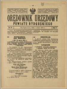 Orędownik Urzędowy Powiatu Bydgoskiego, 1928, nr 28