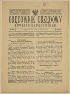 Orędownik Urzędowy Powiatu Bydgoskiego, 1928, nr 29