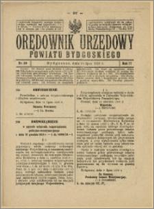Orędownik Urzędowy Powiatu Bydgoskiego, 1928, nr 30
