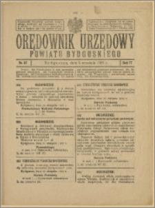 Orędownik Urzędowy Powiatu Bydgoskiego, 1928, nr 37