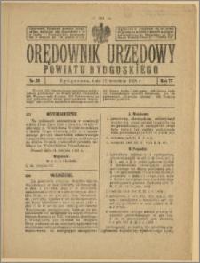 Orędownik Urzędowy Powiatu Bydgoskiego, 1928, nr 38