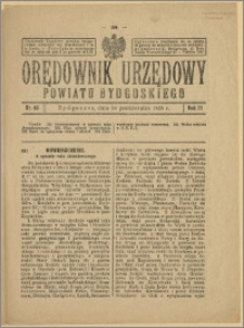 Orędownik Urzędowy Powiatu Bydgoskiego, 1928, nr 45
