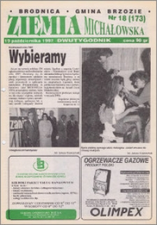 Ziemia Michałowska : Dwutygodnik miasta Brodnicy i gminy Brzozie R. 1997, Nr 18 (173)