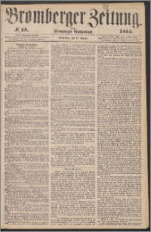 Bromberger Zeitung, 1862, nr 14