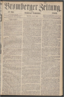 Bromberger Zeitung, 1862, nr 92
