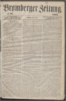 Bromberger Zeitung, 1863, nr 81