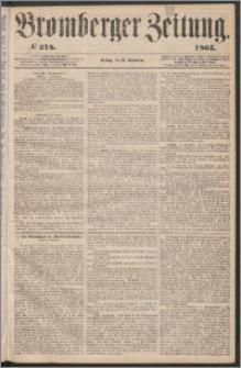 Bromberger Zeitung, 1863, nr 218