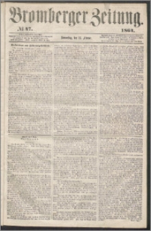 Bromberger Zeitung, 1864, nr 47