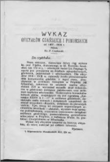 Wykaz oficyałów gdańskich i pomorskich od 1467-1824 r.