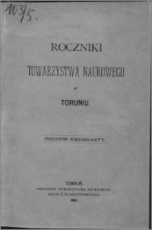 Roczniki Towarzystwa Naukowego w Toruniu, R. 17, (1910)