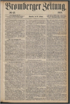 Bromberger Zeitung, 1868, nr 43