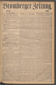 Bromberger Zeitung, 1872, nr 91