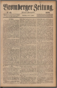 Bromberger Zeitung, 1878, nr 43