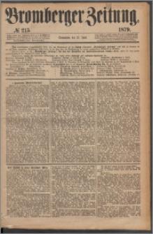 Bromberger Zeitung, 1879, nr 215