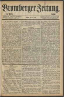 Bromberger Zeitung, 1880, nr 193