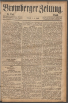 Bromberger Zeitung, 1880, nr 216