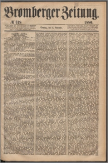 Bromberger Zeitung, 1880, nr 318