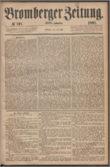 Bromberger Zeitung, 1881, nr 191
