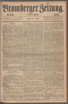 Bromberger Zeitung, 1881, nr 205