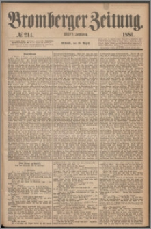 Bromberger Zeitung, 1881, nr 214