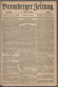 Bromberger Zeitung, 1881, nr 216