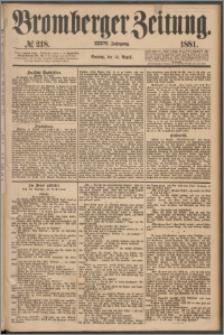 Bromberger Zeitung, 1881, nr 218