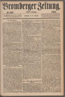 Bromberger Zeitung, 1881, nr 245