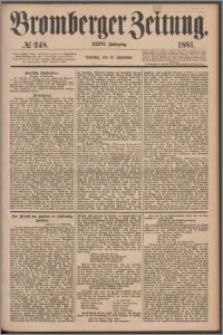 Bromberger Zeitung, 1881, nr 248