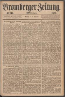 Bromberger Zeitung, 1881, nr 249
