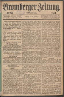 Bromberger Zeitung, 1881, nr 289