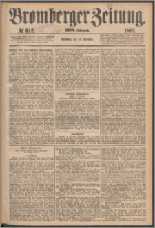 Bromberger Zeitung, 1881, nr 312