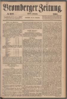 Bromberger Zeitung, 1881, nr 322
