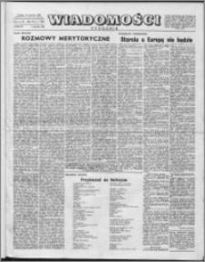 Wiadomości, R. 11 nr 1 (509), 1956