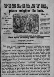 Pielgrzym, pismo religijne dla ludu 1871 nr 2