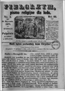 Pielgrzym, pismo religijne dla ludu 1871 nr 3