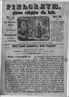 Pielgrzym, pismo religijne dla ludu 1871 nr 4