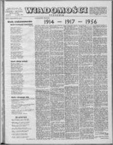 Wiadomości, R. 11 nr 50 (558), 1956