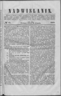 Nadwiślanin, 1860.08.21 R. 11 nr 65