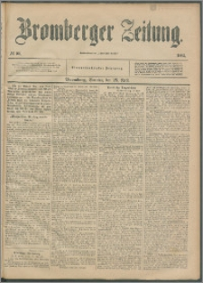Bromberger Zeitung, 1895, nr 99