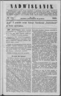 Nadwiślanin, 1860.12.24 R. 11 nr 113