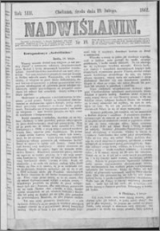 Nadwiślanin, 1862.02.19 R. 13 nr 19