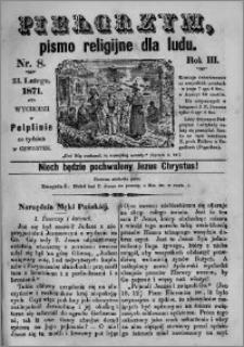 Pielgrzym, pismo religijne dla ludu 1871 nr 8