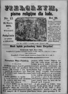 Pielgrzym, pismo religijne dla ludu 1871 nr 12