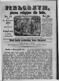 Pielgrzym, pismo religijne dla ludu 1871 nr 15