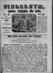 Pielgrzym, pismo religijne dla ludu 1871 nr 16