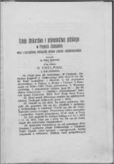 Dzieje drukarstwa i piśmiennictwa polskiego w Prusiech Zachodnich : wraz ze szczegółową bibliografią druków polskich zachodniopruskich