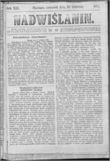 Nadwiślanin, 1862.04.10 R. 13 nr 41