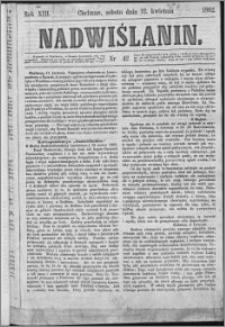Nadwiślanin, 1862.04.12 R. 13 nr 42