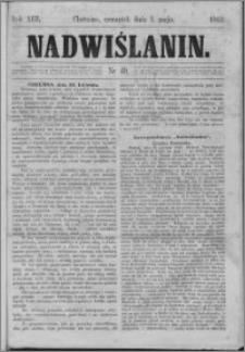 Nadwiślanin, 1862.05.01 R. 13 nr 49